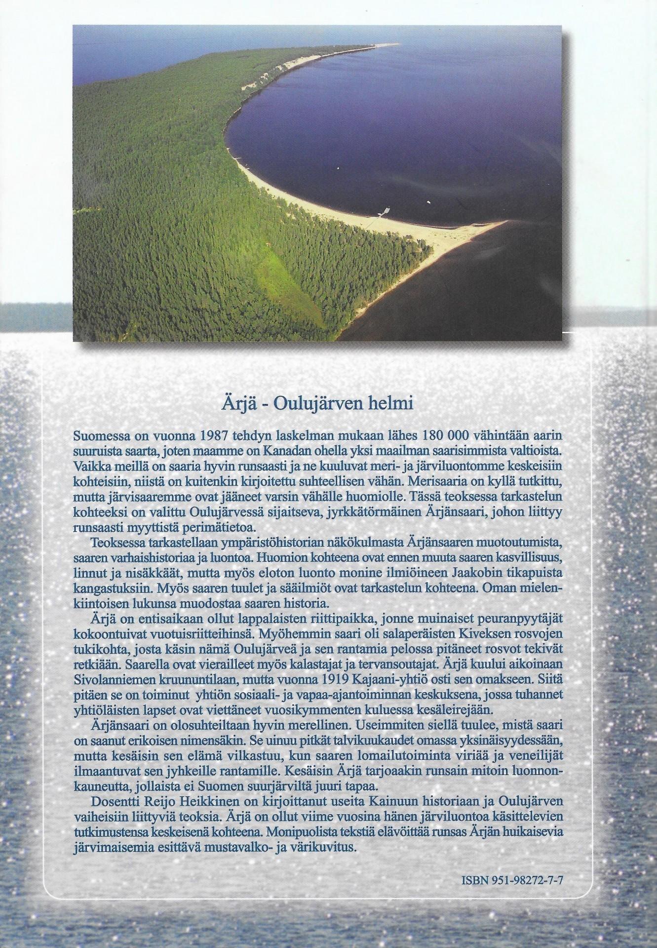 Ärjä - Oulujärven helmi 2002 takakansi
