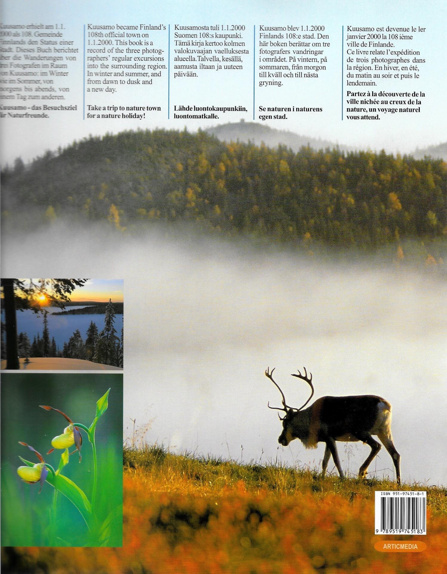 Kuusamo - luontokaupunki englanniksi, saksaksi, ruotsiksi ja ranskaksi 2000 takakansi