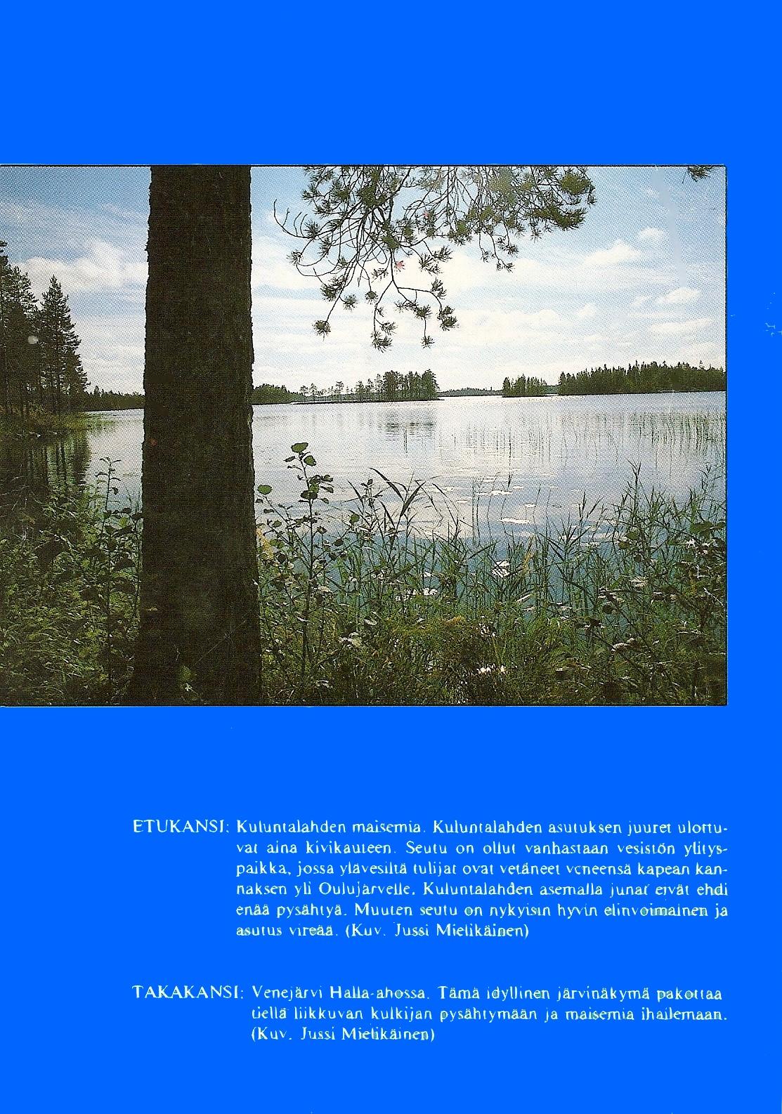 Kajaanin maalaiskunnan historia 1984 takakansi