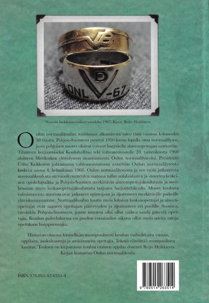 Oulun normaalikoulun 50-vuotishistoria. Takakansi. 2010