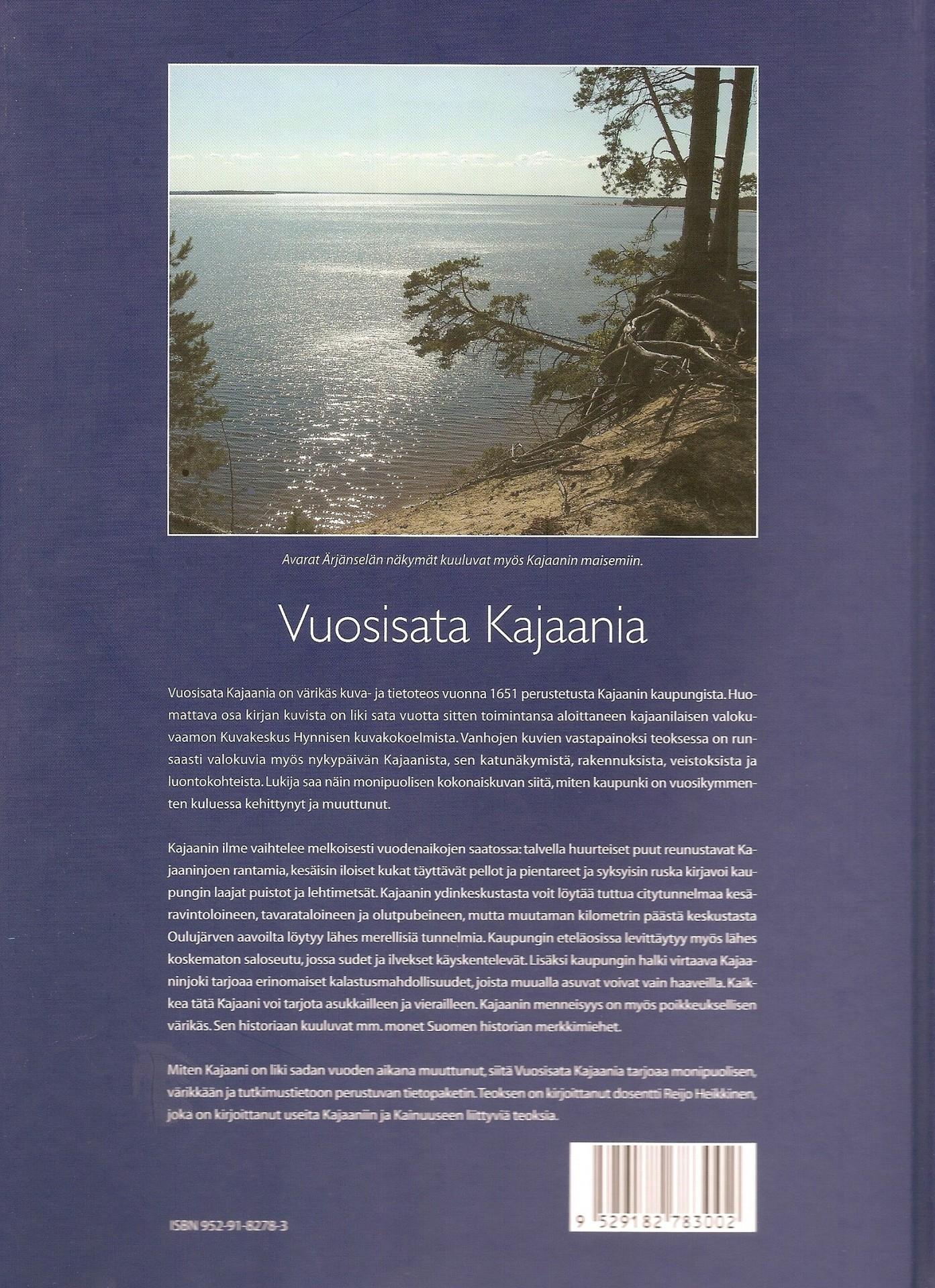 Vuosisata Kajaania 2005 II takakansi
