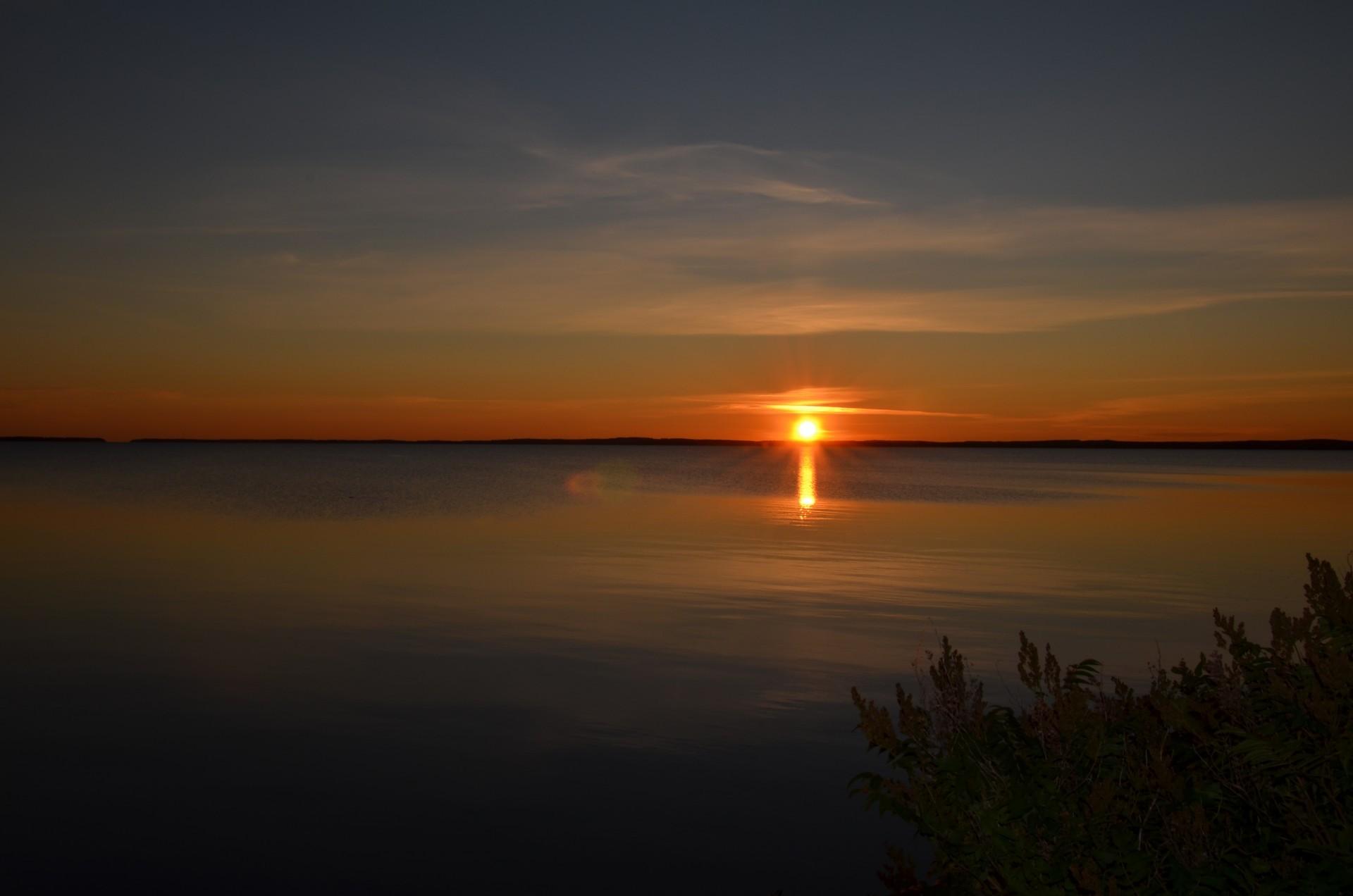Aurinko painuun Paltaselän taa.