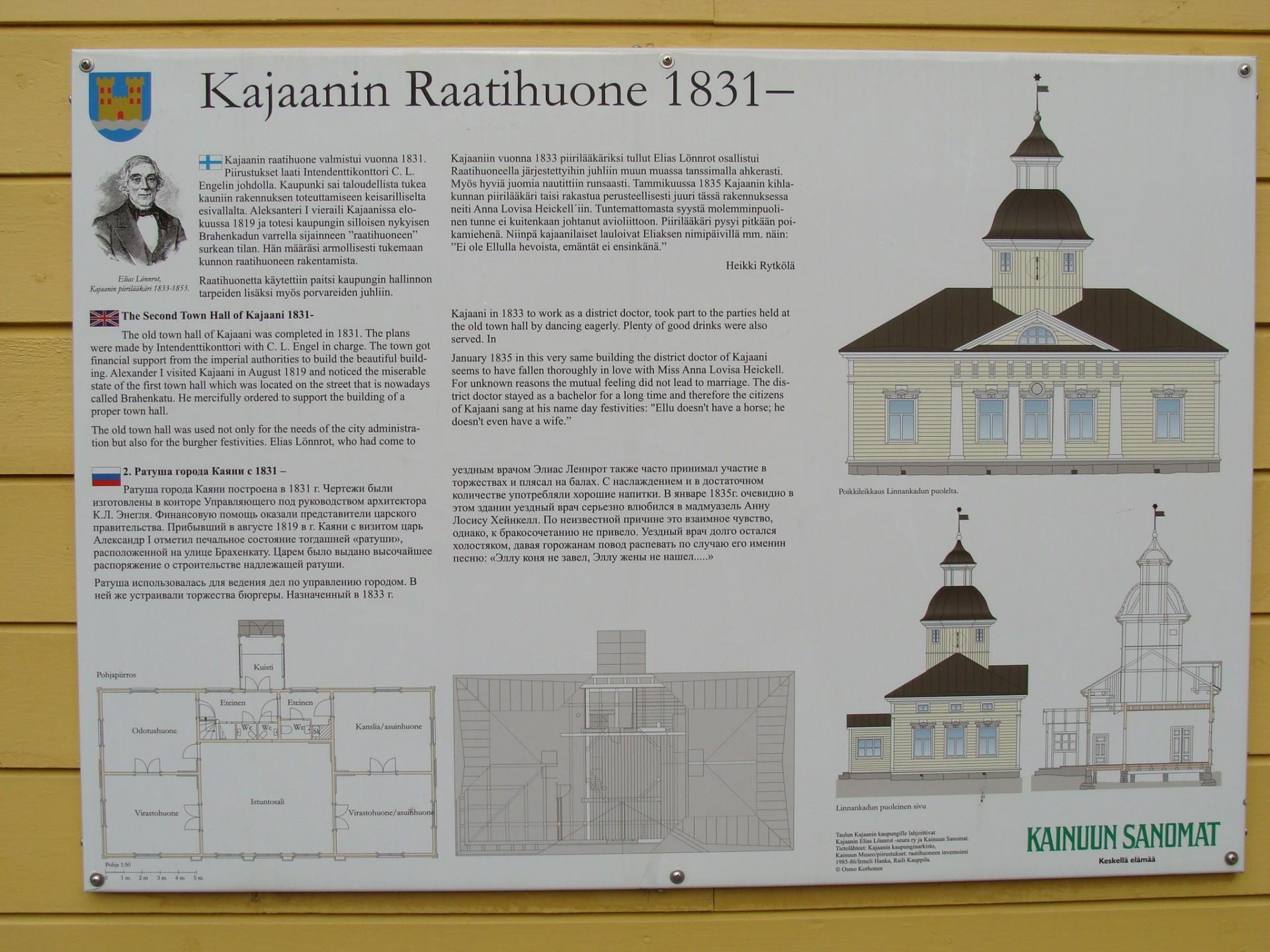 Raatihuoneen historiataulu