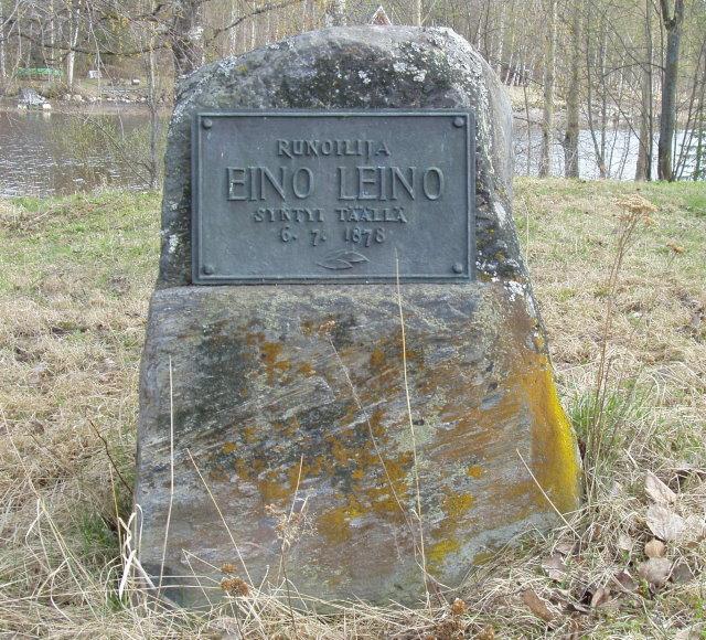 Eino Leino muistokivi Hövelössä