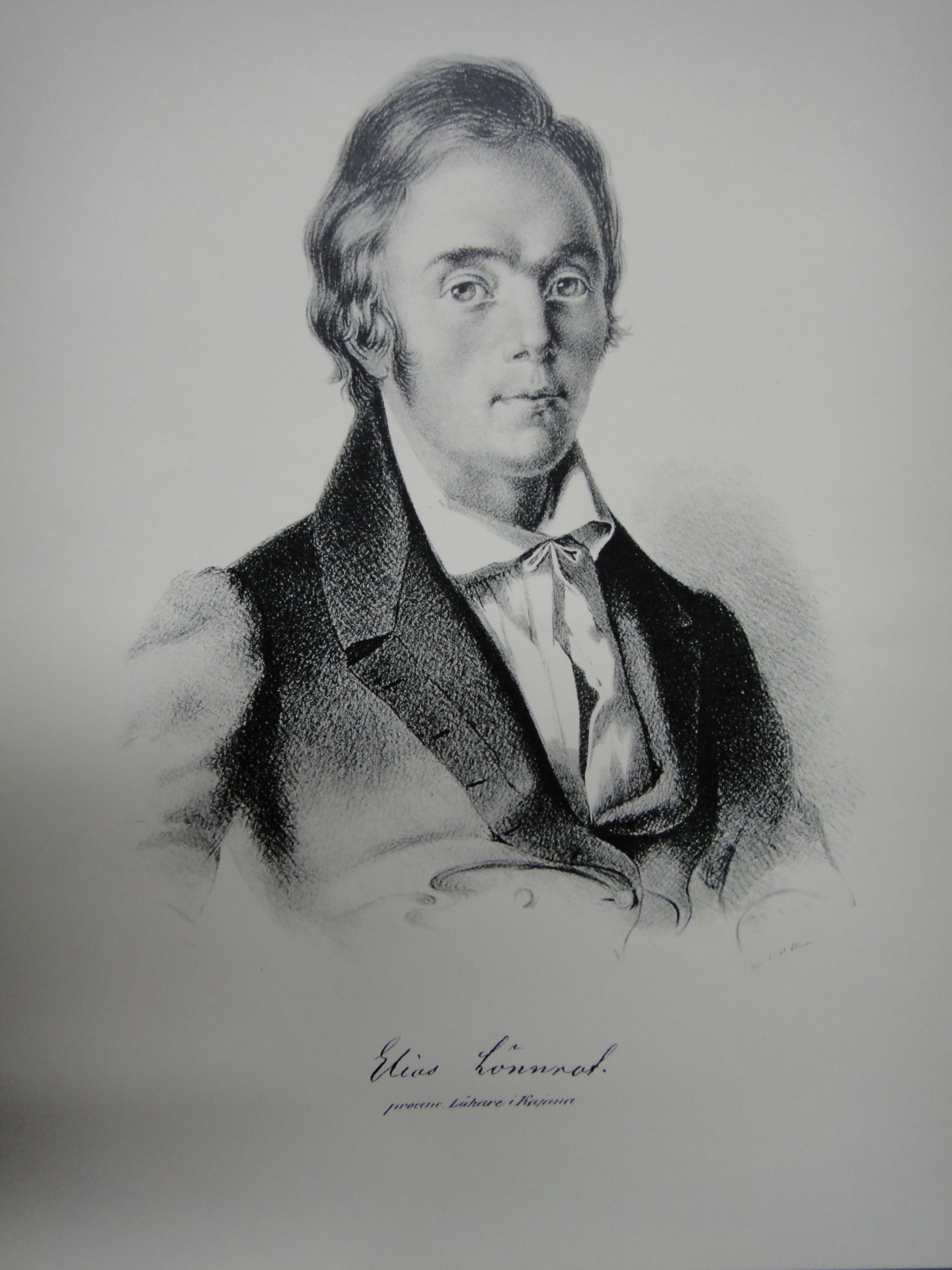 Kajaanin piirilääkäri Elias Lönnrot 1841. Kuva: Johan Knutsson