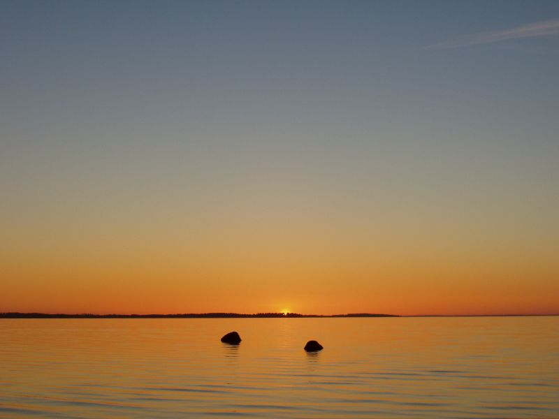 Auringonlasku Koutalahdessa