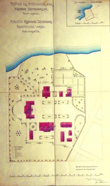 Kajaanin kampuksen asemakaava 1900