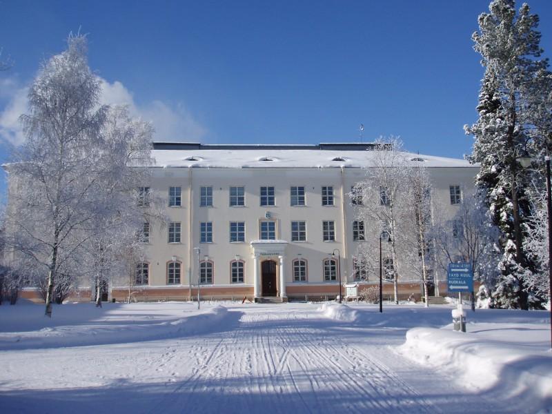 Tämä rakennus oli Tiedon temppeli vuoteen 2013, jolloin Oulun yliopisto ajoi kampuksen alas.