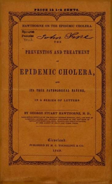 John Snow'n vuonna 1849 julkaistu koleratutkimus