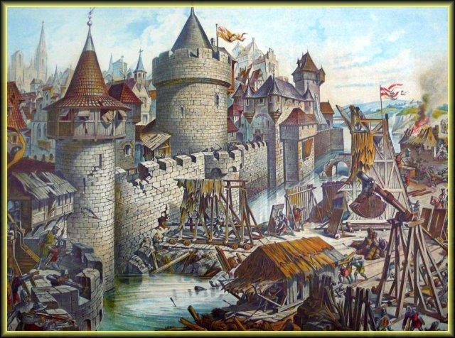 Keskiaikaisen kaupungin piiritys