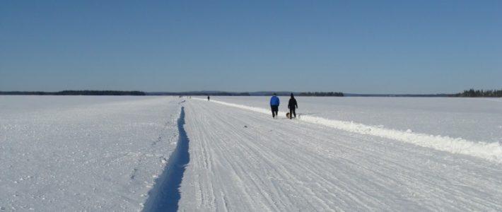 Talvisia kuvia Oulujärvestä ja sen rantamilta