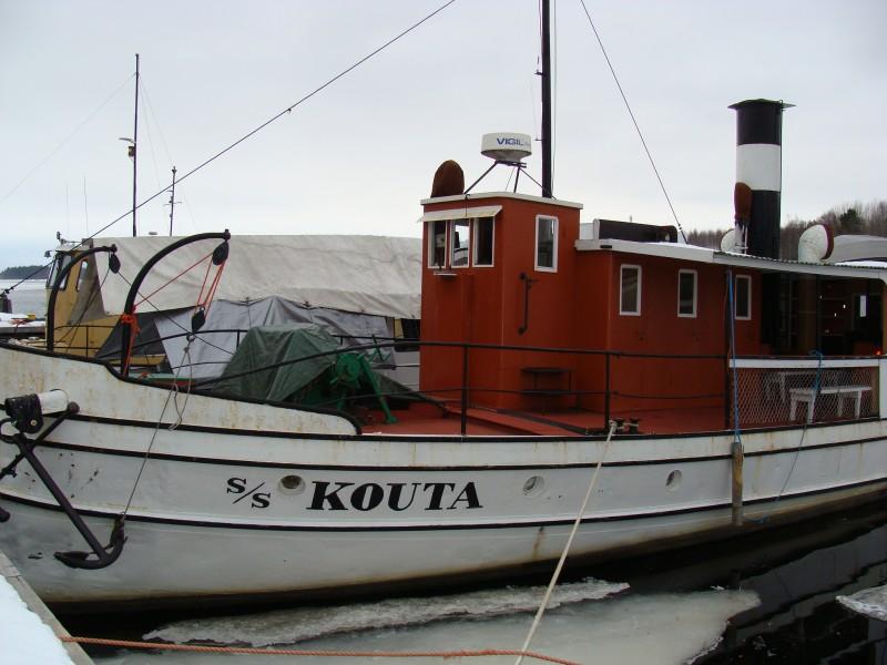 S/s Kouta Auralan ranasa maaliskuussa 2008